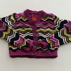 Missoni for Target small purple patterned cardigan